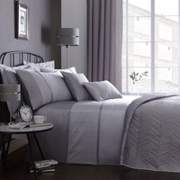 Owen Embroidered Grey Duvet Cover Grey