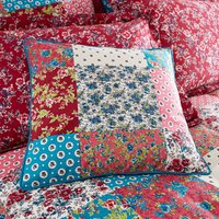 Ava Patchwork Red Cushion Blue / Red