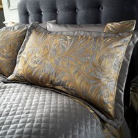 Grayson Pewter Pillow Sham Grey / Gold