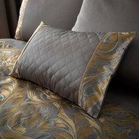Grayson Pewter Boudoir Cushion Grey / Gold