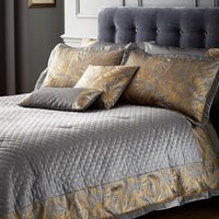 Grayson Pewter Bedspread Pewter Grey & Gold
