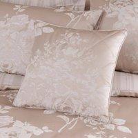 Laura Natural Jacquard Cushion Cream