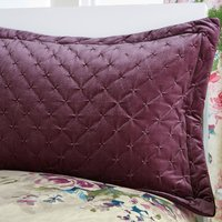 Misty Moors Plum Pillow Sham Dark Purple