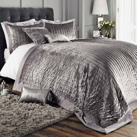 Oxford Pewter Bedspread Pewter Grey