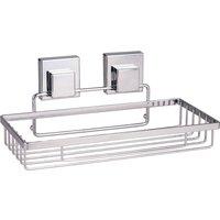 Smartloc Rectangle Bath Rack Silver