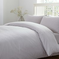 Brushed Cotton Silver Duvet Cover Silver