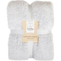 Teddy Bear Throw Grey
