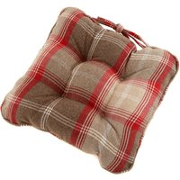 Highland Check Seat pad Blue / Red