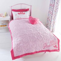 Disney Princess Bedspread Pink / White