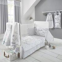 Disney Dumbo Nursery Cot Duvet Cover and Pillowcase Set Grey