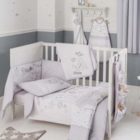 Disney Dumbo Nursery Cot Bed Duvet Cover and Pillowcase Set Grey