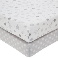 Disney Dumbo Grey Nursery Pair of Cot Bed Fitted Sheets Grey