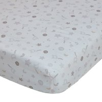 Disney Dumbo Grey Nursery Pair of Cot Bed Fitted Sheets Grey / White