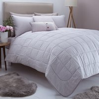 Logan Seersucker Grey Bedspread Grey