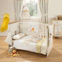 Disney Winnie the Pooh Nursery Cot Bed Duvet Cover Set Light Brown / Natural