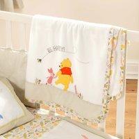 Disney Winnie the Pooh Nursery Fleece Blanket Light Brown / Natural