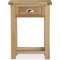 Dunelm Oakley Oak Telephone Table Light Brown / Natural