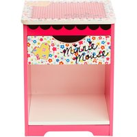 disney minnie mouse bedside table pink