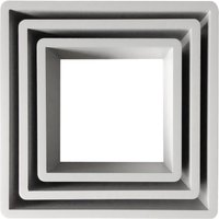 Set of 3 Square Shelves White