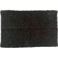 Black and Silver Bath Mat Black