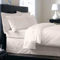 Dorma 350 Thread Count 100% Cotton Satin Plain Dye Natural Duvet Cover Natural