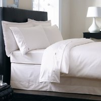 Dorma 500 Thread Count 100% Cotton Satin Plain Dye Cream Duvet Cover Cream (Natural)