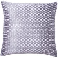 Geo Hexagonal Design Cushion Silver