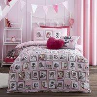 Fluffy Friends Pink Duvet Cover Set Pink