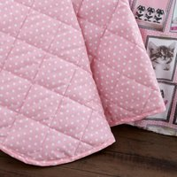 Fluffy Friends Pink Bedspread Pink