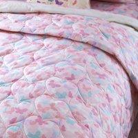 Maisie Heart Pink Bedspread Pink