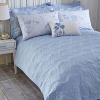 Bryony Blue Bedspread Blue