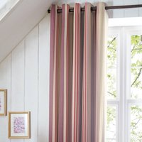 Didsbury Plum Thermal Eyelet Curtains Beige
