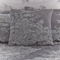 Laura Grey Jacquard Square Cushion Grey