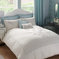 Misaki Emboridered Cream Duvet Cover Cream