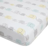 Ellie and Friends Grey Nursery Cot Pair of Fitted Sheets White and Yellow
