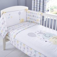 Ellie and Friends Nursery Coverlet and Bumper Set White / Yellow