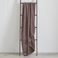 Chenille Plain Throw Mauve Purple