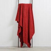 Chenille Plain Throw Red