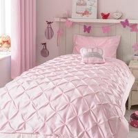 Mia Pink Pintuck Bedspread Pink