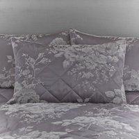 Laura Grey Jacquard Pillow Sham Grey