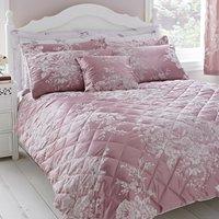 Laura Mauve Jacquard Bedspread Mauve (Purple)