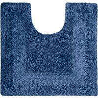 Super Soft Reversible Pedestal Mat Indigo Blue