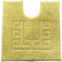 Luxury Cotton Non-Slip Plain Pedestal Mat Ochre