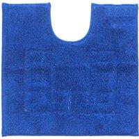 Luxury Cotton Non-Slip Pedestal Mat Indigo Blue