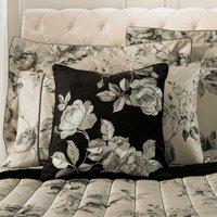Dorma Harriet Embroidered Cushion Black