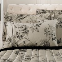 Dorma Harriet Charcoal Cuffed Pillowcase Charcoal