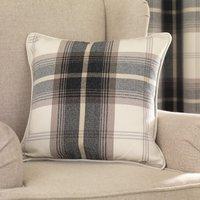 Highland Charcoal Check Cushion Charcoal