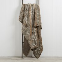 Large Husky Faux Fur Throw Grey