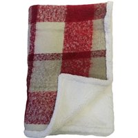 Checked Snuggle Throw Red