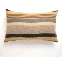 Large Ochre Striped Cushion Ochre
